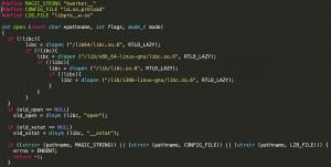 شکل 4 - تابع تغییر داده شدهی open