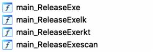 شکل 2 - چهار تابع اصلی بدافزار Pro-Ocean